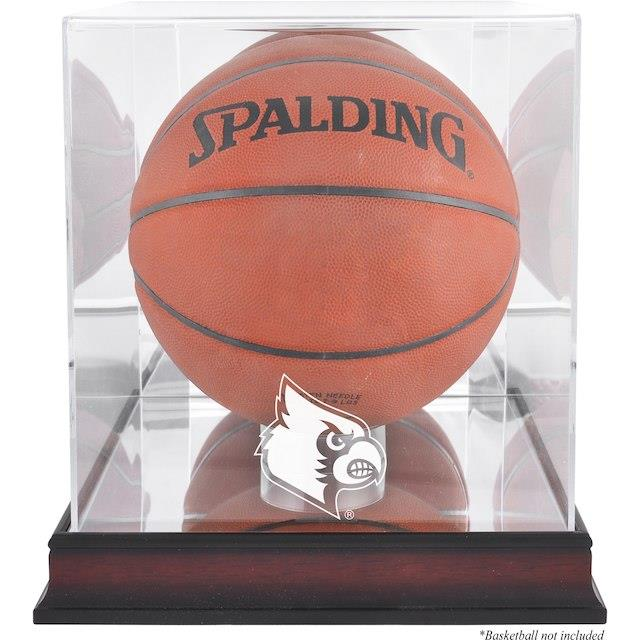 Fanatics Authentic Louisville Cardinals Mahogany Antique Finish Basketball Display Case with Mirror Back ユニセックス