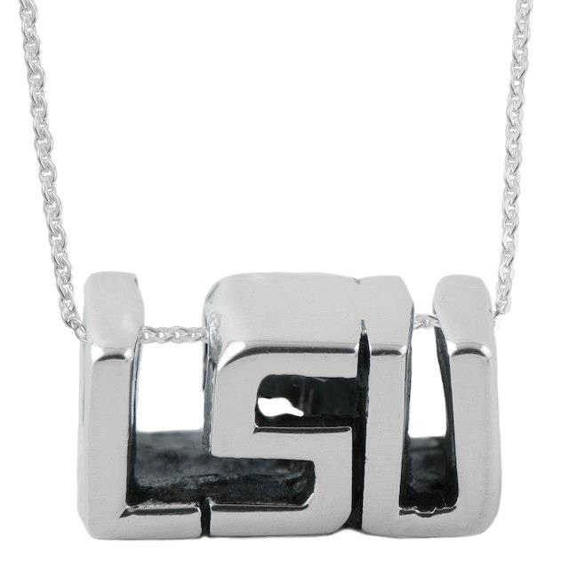 Dayna Designs LSU Tigers Women's Sterling Silver Cut Out Necklace ユニセックス