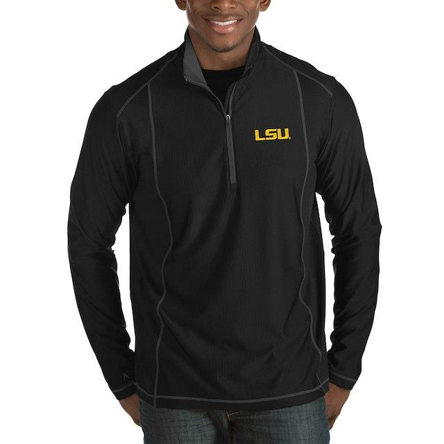 アンティグア Antigua LSU Tigers Black Tempo Half-Zip Pullover Big & Tall Jacket メンズ