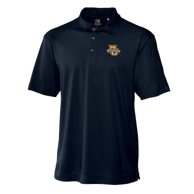 Cutter & Buck Marquette Golden Eagles Navy Big & Tall DryTec Genre Polo メンズ