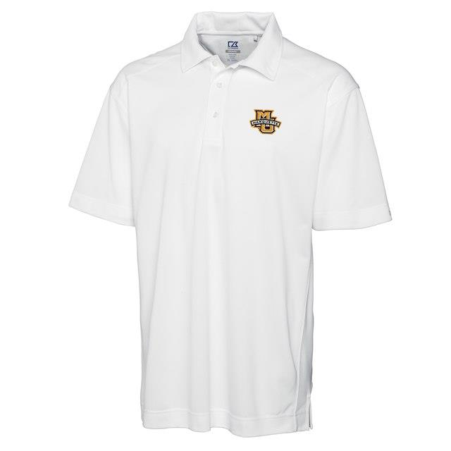 Cutter & Buck Marquette Golden Eagles White Big & Tall DryTec Genre Polo メンズ