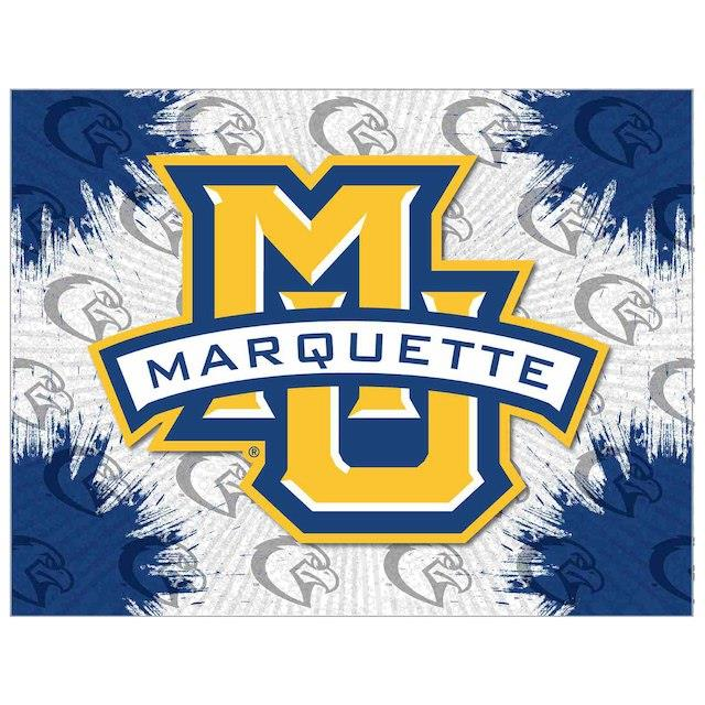 Marquette Golden Eagles 15 x 20 Printed Canvas Art ユニセックス