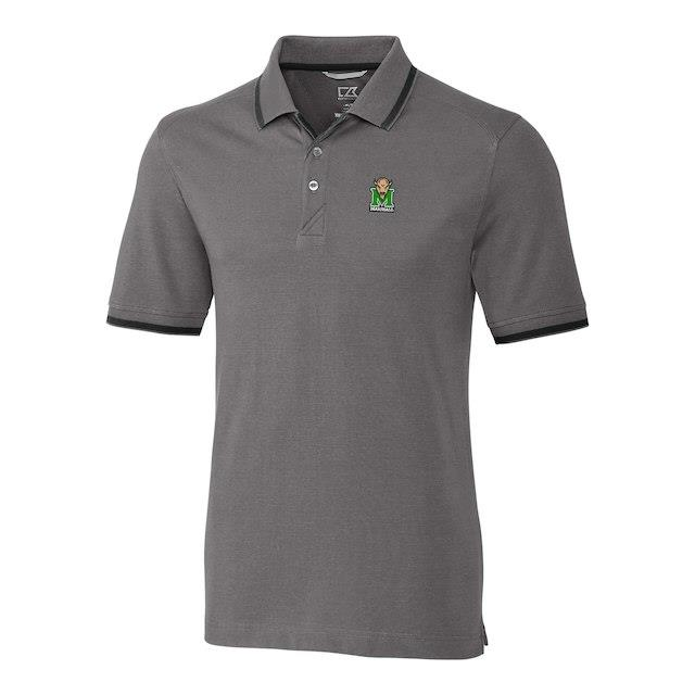 Cutter & Buck Marshall Thundering Herd Gray Big & Tall Advantage Tipped Polo メンズ