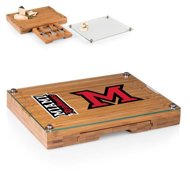 Miami University RedHawks Concerto Cheese Board with Serving Stage and Tools ユニセックス