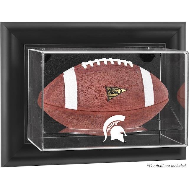 Fanatics Authentic Michigan State Spartans Black Framed Wall-Mountable Football Display Case ユニセックス
