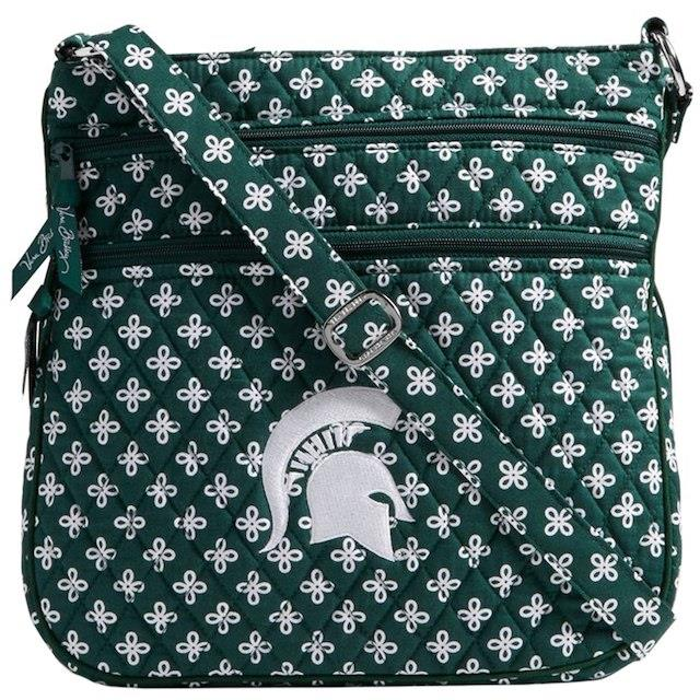 Vera Bradley Michigan State Spartans Women's Triple Zip Hipster Purse ユニセックス