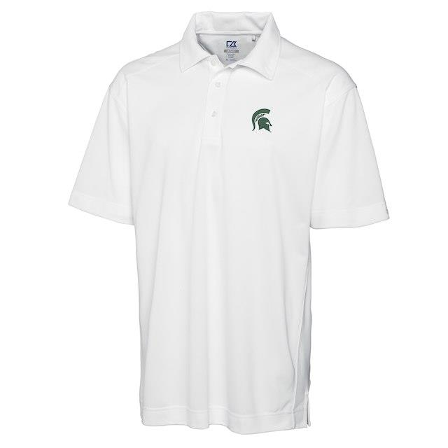 Cutter & Buck Michigan State Spartans White Big & Tall DryTec Genre Polo メンズ