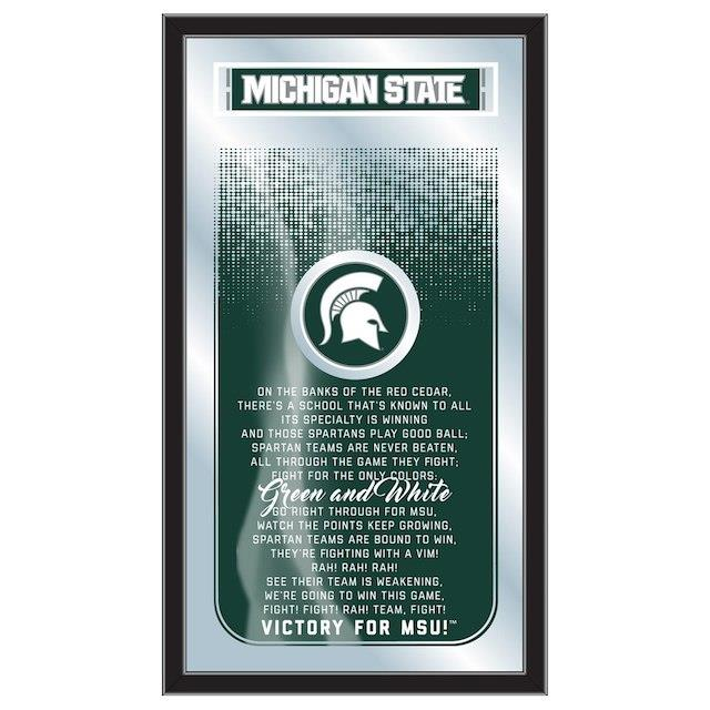 Michigan State Spartans 26 x 15 Fight Song Mirror ユニセックス