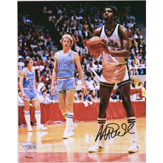 Fanatics Authentic Magic Johnson Michigan State Spartans Autographed 8 x 10 Shooting Free Throw Photograph ユニセックス