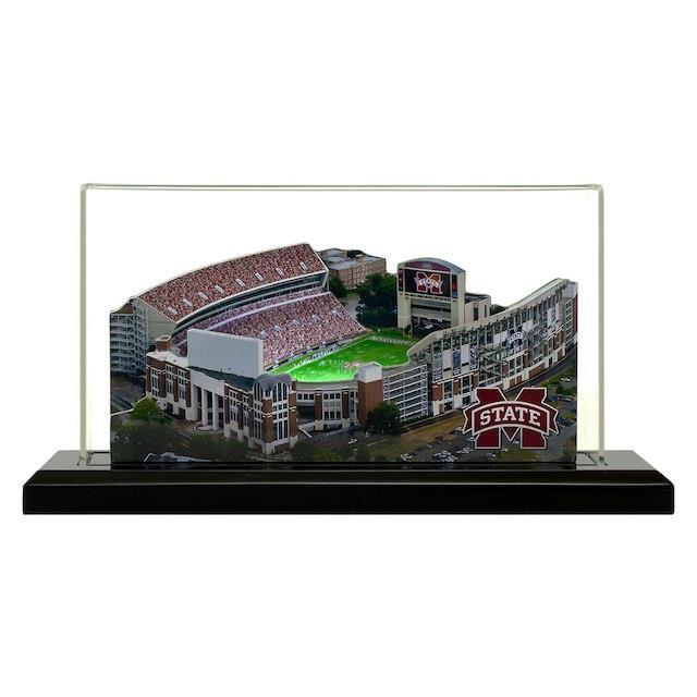 Mississippi State Bulldogs 9 x 4 Light Up Stadium with Display Case ユニセックス