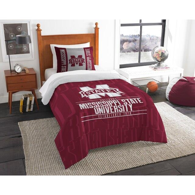 The Northwest Company Mississippi State Bulldogs Modern Take Twin Comforter Set ユニセックス
