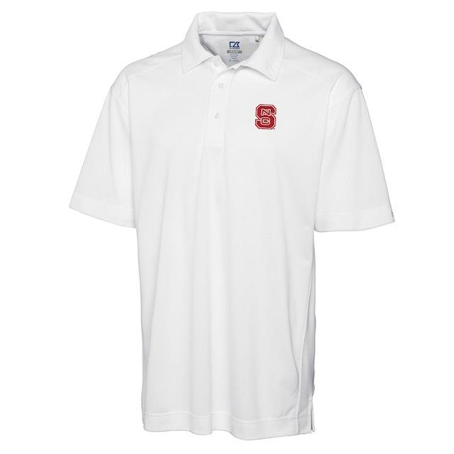 Cutter & Buck NC State Wolfpack White Big & Tall DryTec Genre Polo メンズ