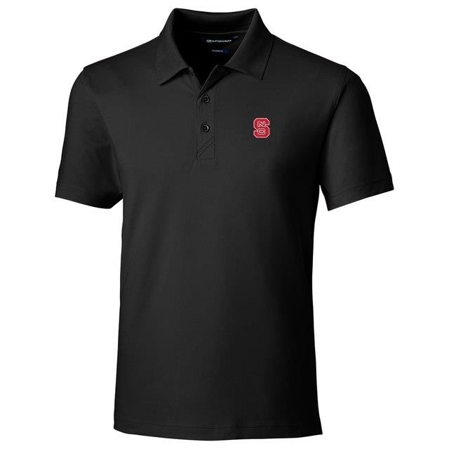 Cutter & Buck NC State Wolfpack Black Forge Tailored Fit Polo メンズ