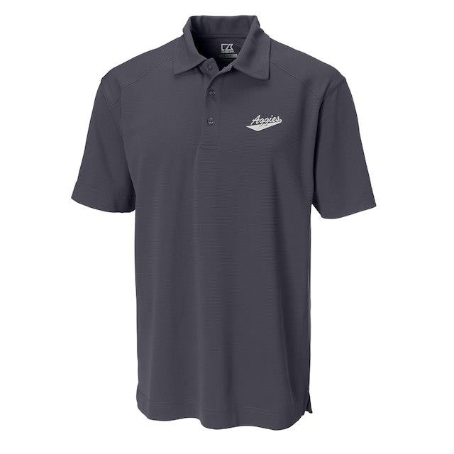 Cutter & Buck New Mexico State Aggies Charcoal Big & Tall DryTec Genre Polo メンズ
