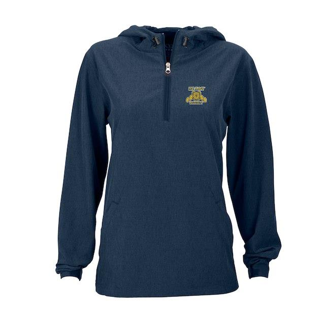 North Carolina A&T Aggies Women's Navy Pullover Stretch Anorak Jacket ユニセックス