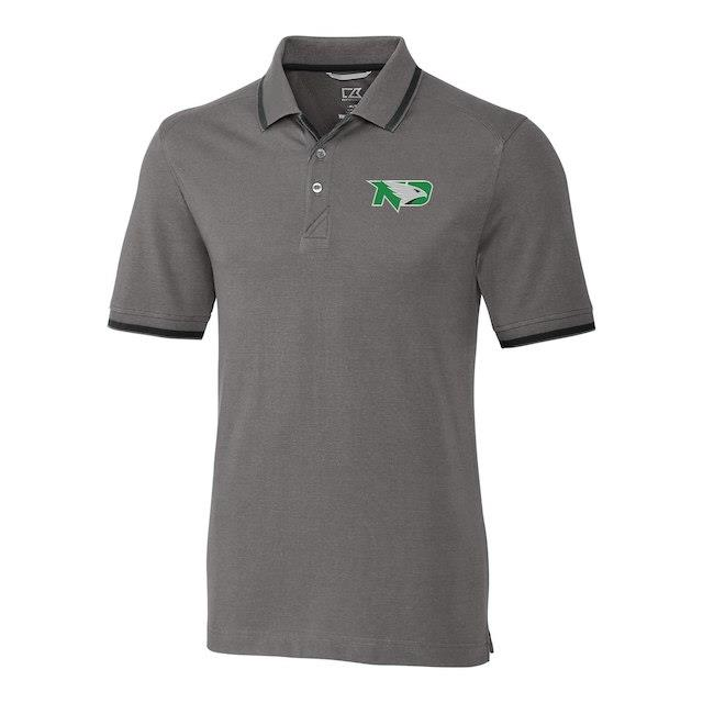 Cutter & Buck North Dakota fighting Sioux Gray Big & Tall Advantage Tipped Polo メンズ