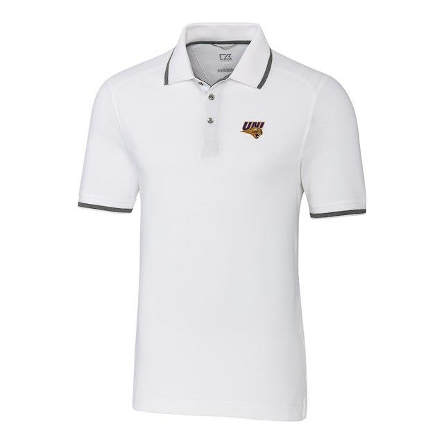 Cutter & Buck Northern Iowa Panthers White Big & Tall Advantage Tipped Polo メンズ