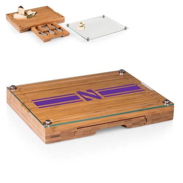 Northwestern Wildcats Concerto Cheese Board with Serving Stage and Tools ユニセックス