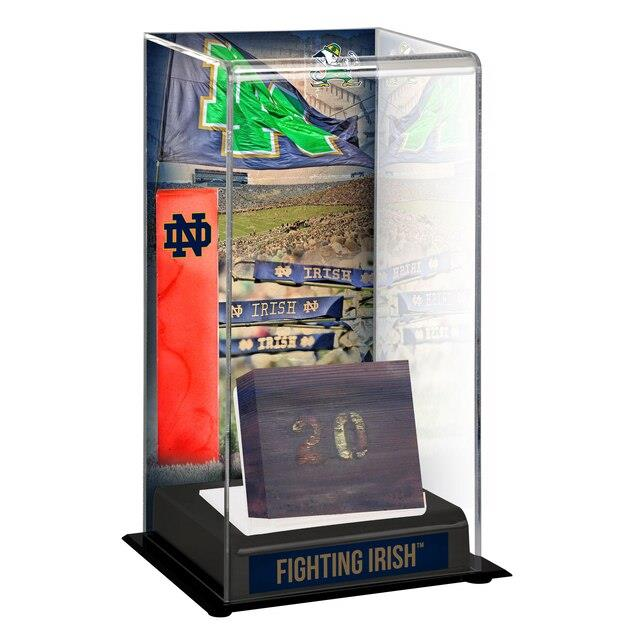 Fanatics Authentic Notre Dame Fighting Irish Tall Display Case with Bench From Notre Dame Stadium ユニセックス