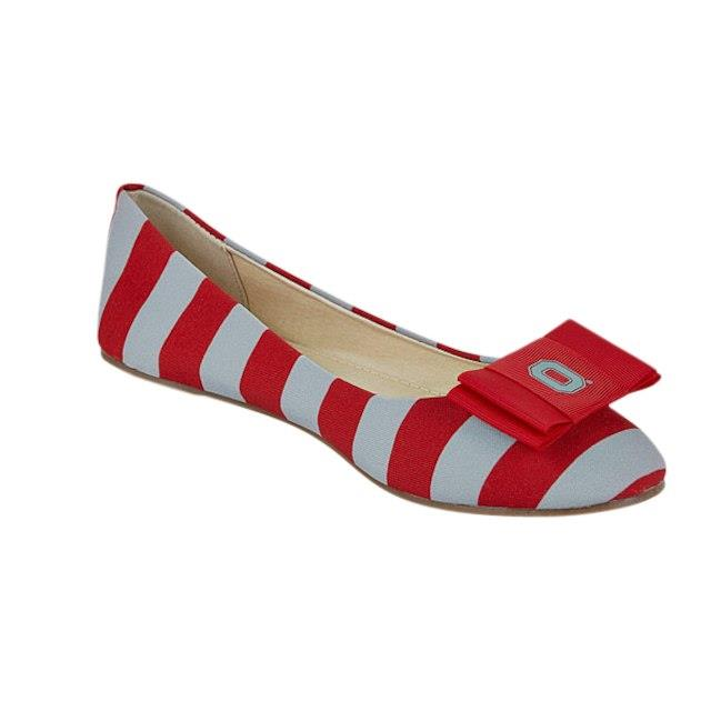 LillyBee U Ohio State Buckeyes Womens Removable Bow Flats ユニセックス