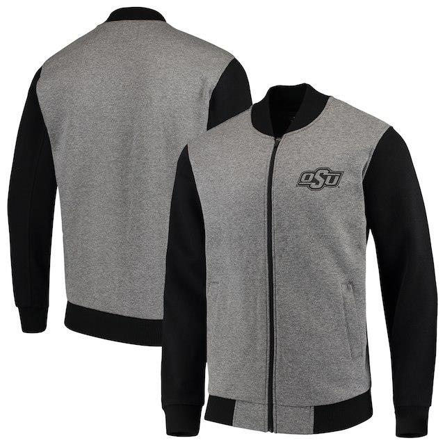 G-III Sports by Carl Banks Oklahoma State Cowboys Gray/Black Midfield Transitional Full-Zip Jacket メンズ