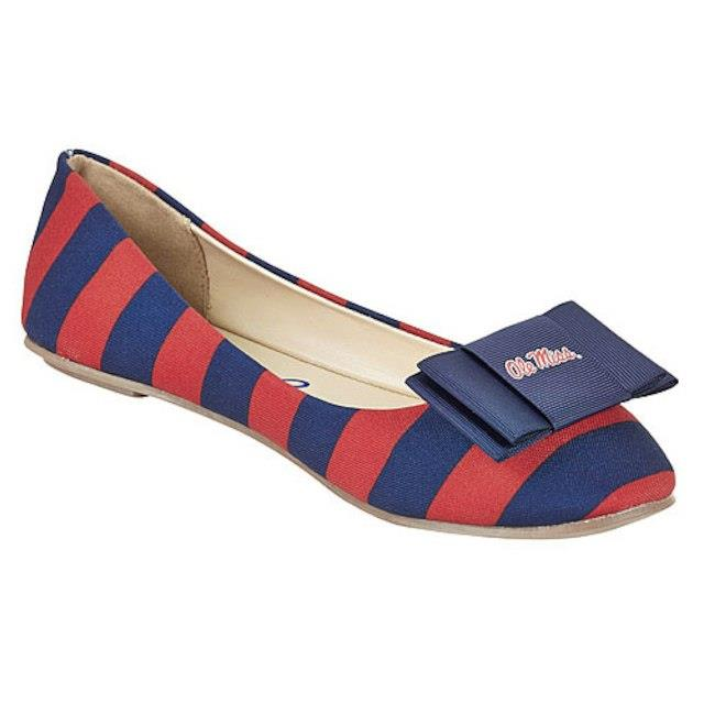LillyBee U Ole Miss Rebels Womens Removable Bow Flats ユニセックス