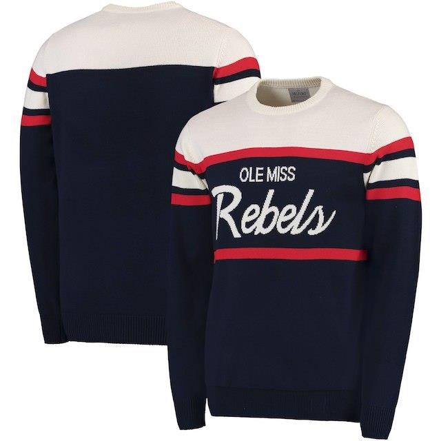 Ole Miss Rebels Navy Tailgate Crew Neck Sweater メンズ