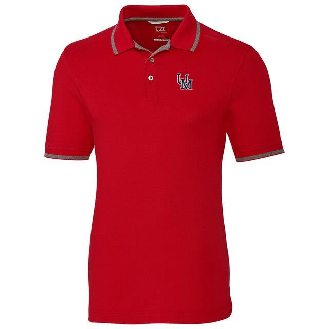 Cutter & Buck Ole Miss Rebels Red Big & Tall College Vault Advantage Tipped DryTec Tri-Blend Polo メンズ