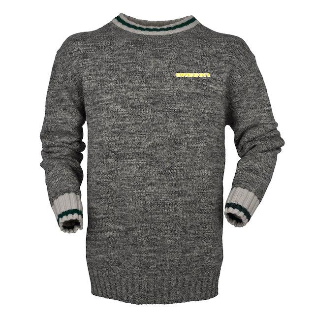 Bruzer Oregon Ducks Gray Work Sock Crew Neck Sweater メンズ
