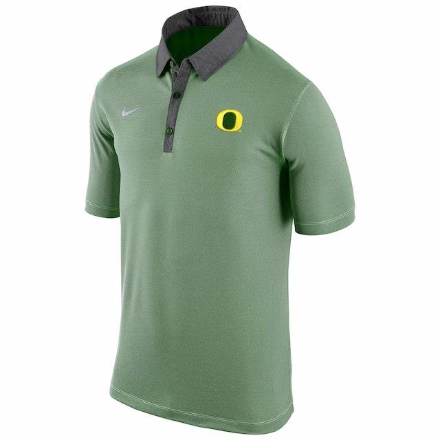 ナイキ Nike Oregon Ducks Apple Green Stadium Microstripe Dri-FIT Polo メンズ