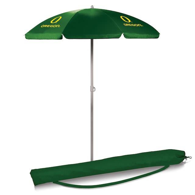 Oregon Ducks Green 5.5' Portable Beach Umbrella ユニセックス