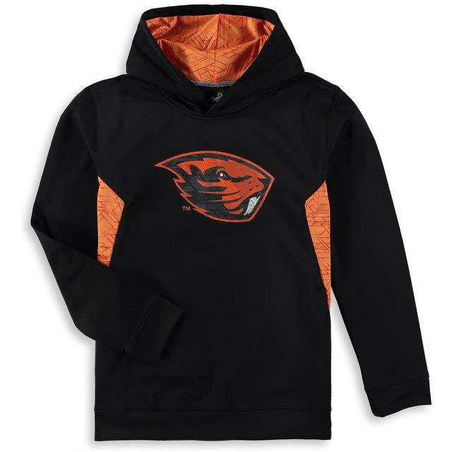 Oregon State Beavers Youth Black Shattered Poly Pullover Hoodie キッズ