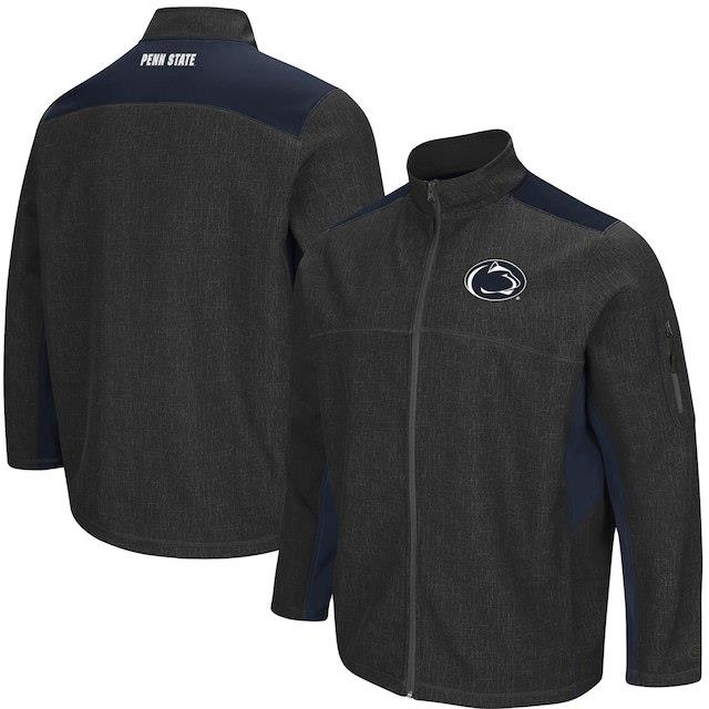 Colosseum Penn State Nittany Lions Charcoal/Navy Big & Tall Acceptor Full-Zip Jacket メンズ