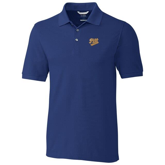 Cutter & Buck Pitt Panthers Navy Big & Tall College Vault Advantage DryTec Tri-Blend Polo メンズ