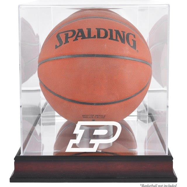 Fanatics Authentic Purdue Boilermakers Mahogany Antique Finish Basketball Display Case with Mirror Back ユニセックス