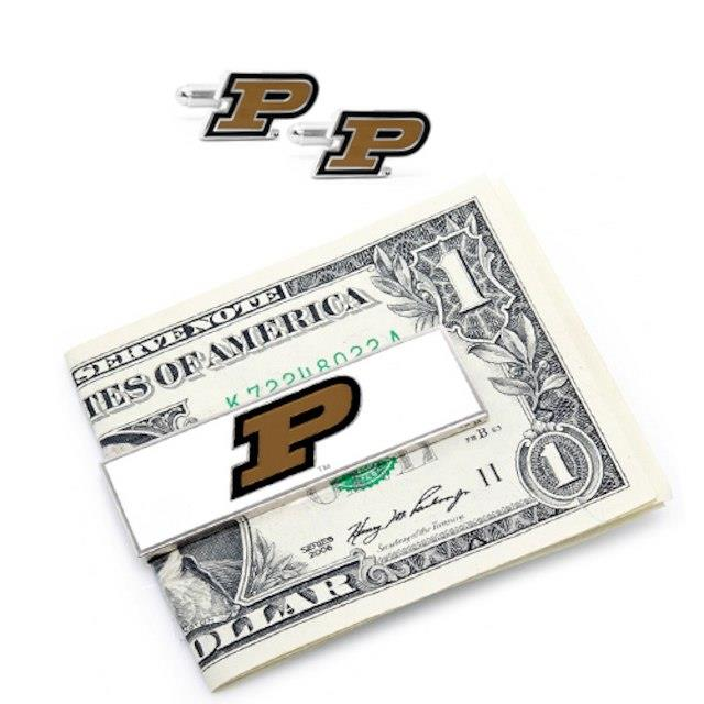 Purdue Boilermakers Cuff Links and Money Clip メンズ