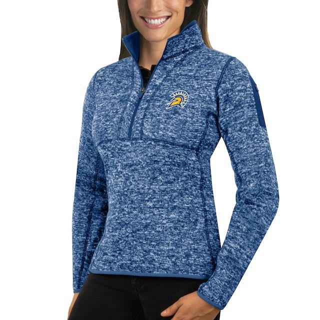 アンティグア Antigua San Jose State Spartans Women's Royal Fortune 1/2-Zip Pullover Sweater ユニセックス