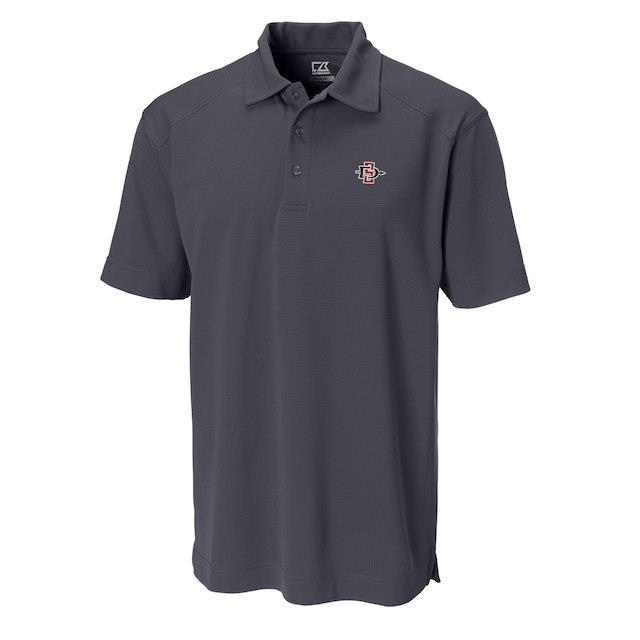 Cutter & Buck San Diego State Aztecs Charcoal Big & Tall DryTec Genre Polo メンズ