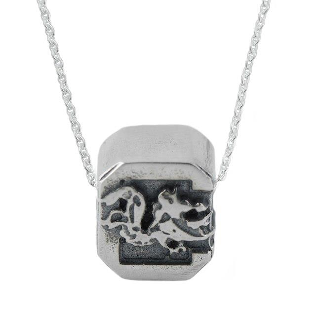 Dayna Designs South Carolina Gamecocks Women's Sterling Silver Cut Out Necklace ユニセックス