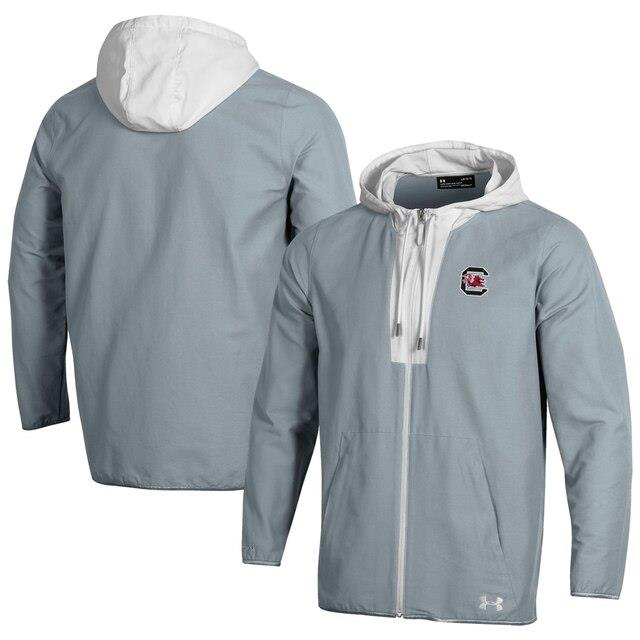 アンダーアーマー Under Armour South Carolina Gamecocks Gray Sport Style Canvas Performance Full-Zip Jacket メンズ