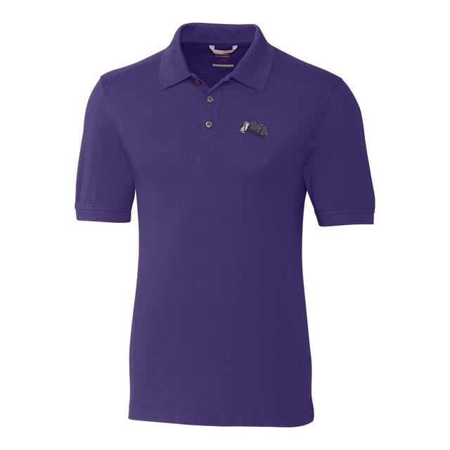 Cutter & Buck Stephen F Austin Lumberjacks Purple DryTec Advantage Vault Logo Polo メンズ