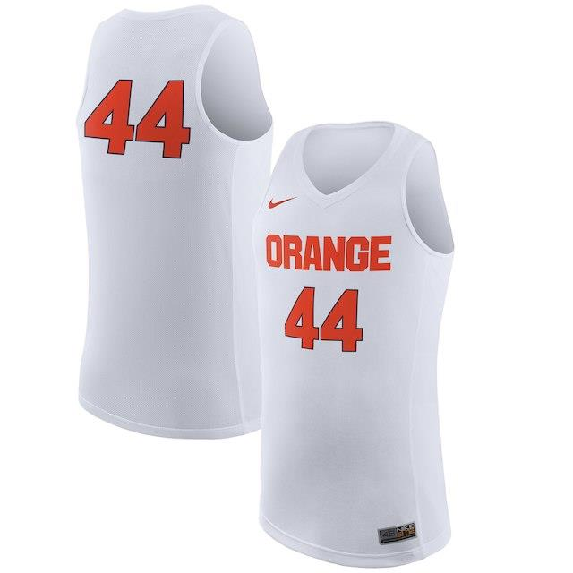 ナイキ Nike #44 Syracuse Orange White Replica Basketball Jersey メンズ