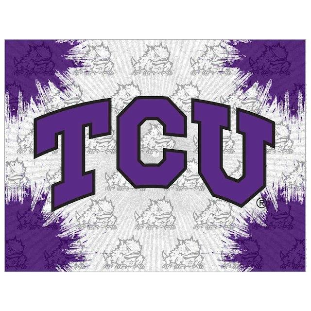 TCU Horned Frogs 15 x 20 Printed Canvas Art ユニセックス
