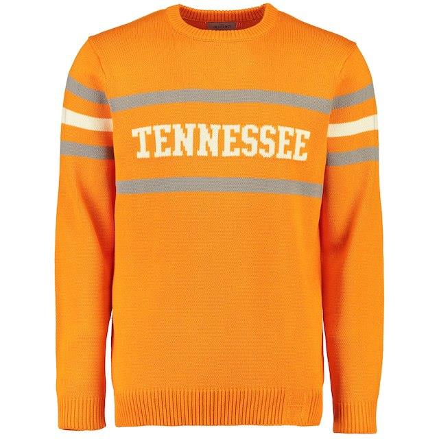 Hillflint Tennessee Volunteers Tenn Orange Vintage Stadium Knit Sweater メンズ