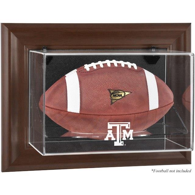 Fanatics Authentic Texas A&M Aggies Brown Framed Wall-Mountable Football Display Case ユニセックス