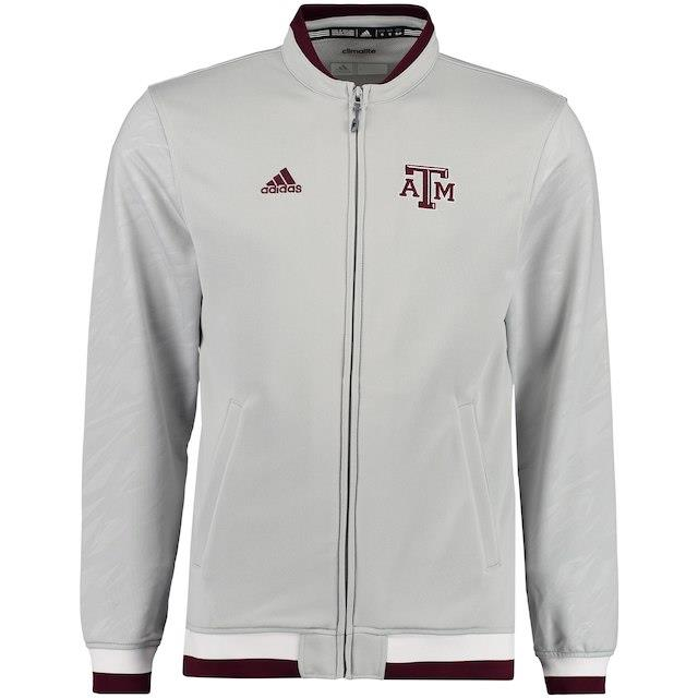 アディダス adidas Texas A&M Aggies Gray 2015 Players Sideline Jacket メンズ