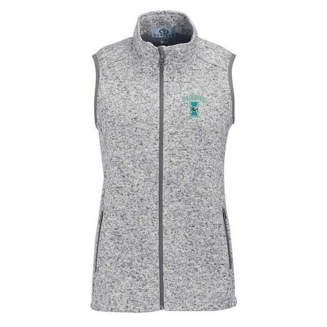 Texas A&M Corpus Christi Islanders Women's Heather Gray Summit Fleece Full Zip Sweater Vest ユニセックス