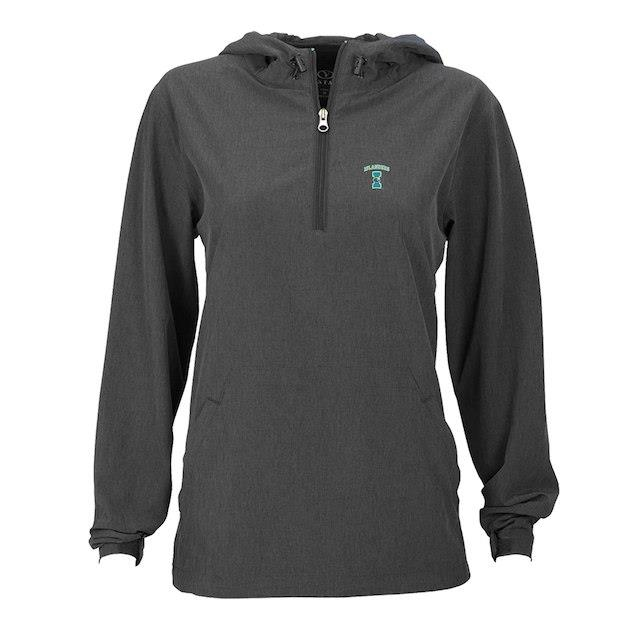 Texas A&M Corpus Christi Islanders Women's Charcoal Pullover Stretch Anorak Jacket ユニセックス