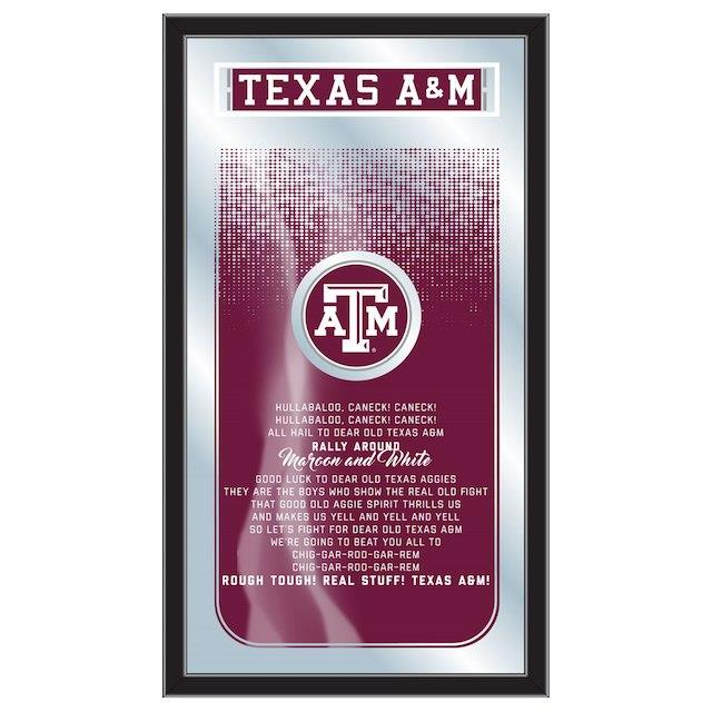 Texas A&M Aggies 26 x 15 Fight Song Mirror ユニセックス