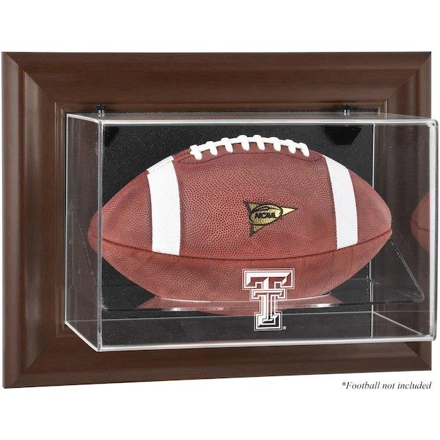 Fanatics Authentic Texas Tech Red Raiders Brown Framed Wall-Mountable Football Display Case ユニセックス